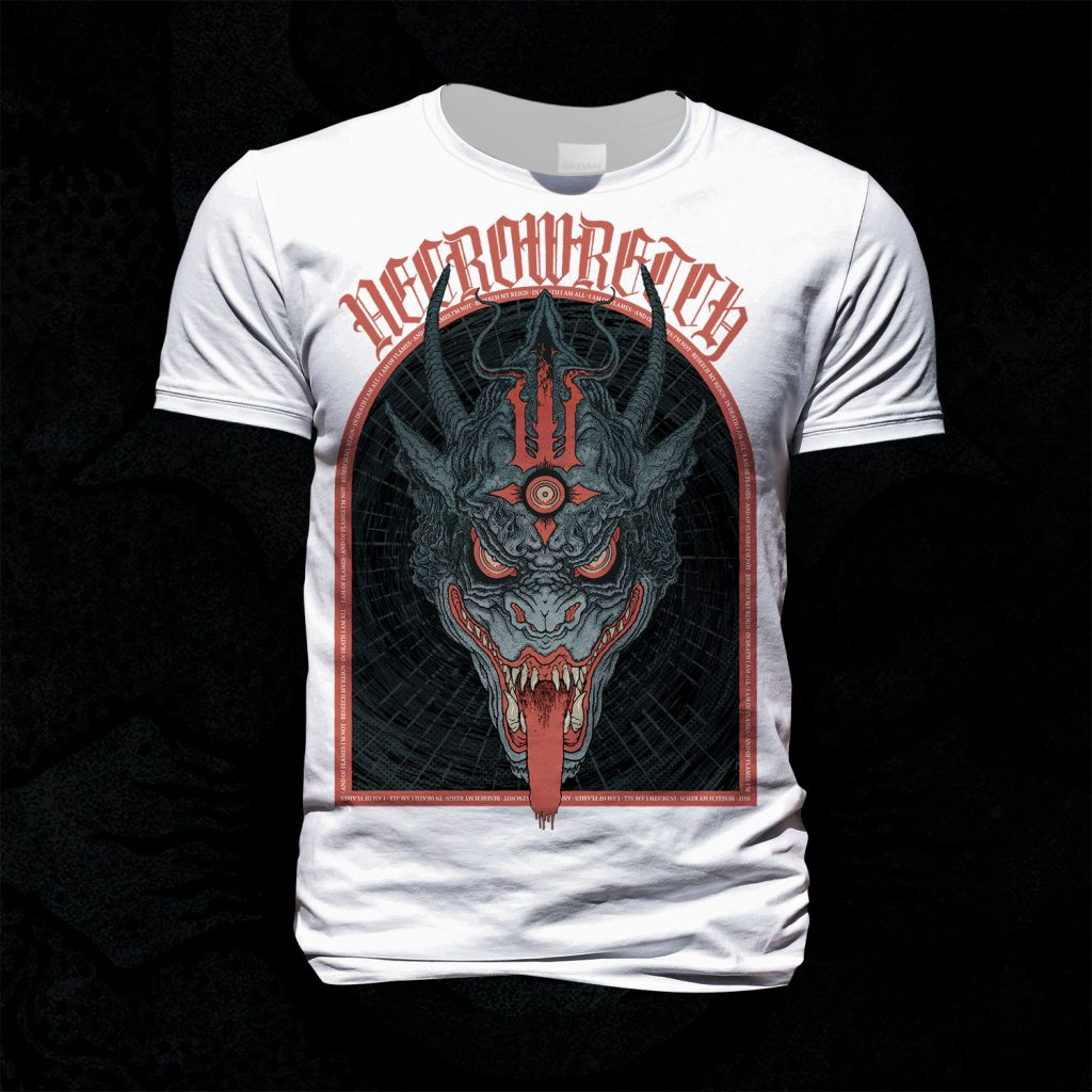 T-Shirt The Ones From Hell – Beast Red (White Shirt)
