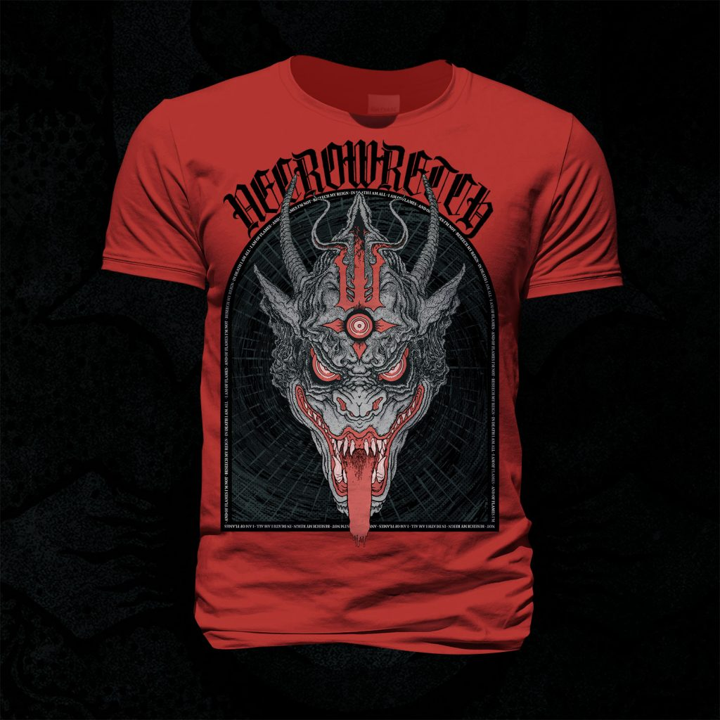 T-Shirt The Ones From Hell – Beast Black (Red Shirt)